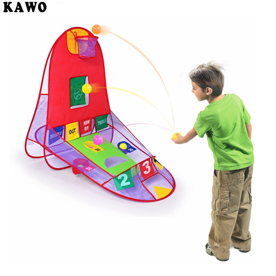KAWO 3 IN 1 Children s Toys Play Tent Outdoor Shooting Tents Portable Indoor and Outdoor Games With 4 Ocean Ball