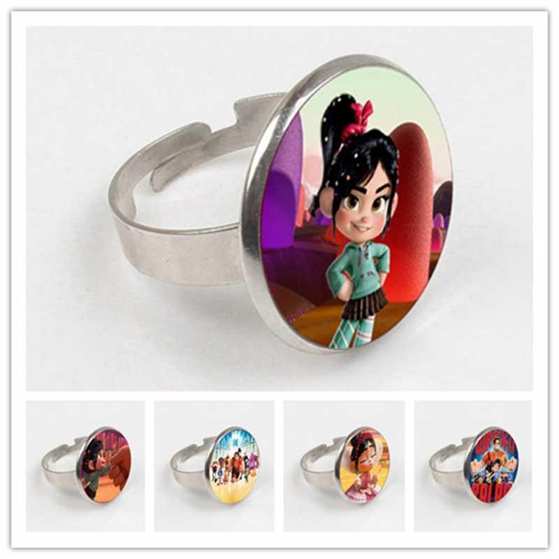 GDRGYB 2019 Wreck-It Ральф серии длинное кольцо милый Vanellope Von Schweetz маленькая девочка арт Круглое Стеклянное изображение колье кольцо