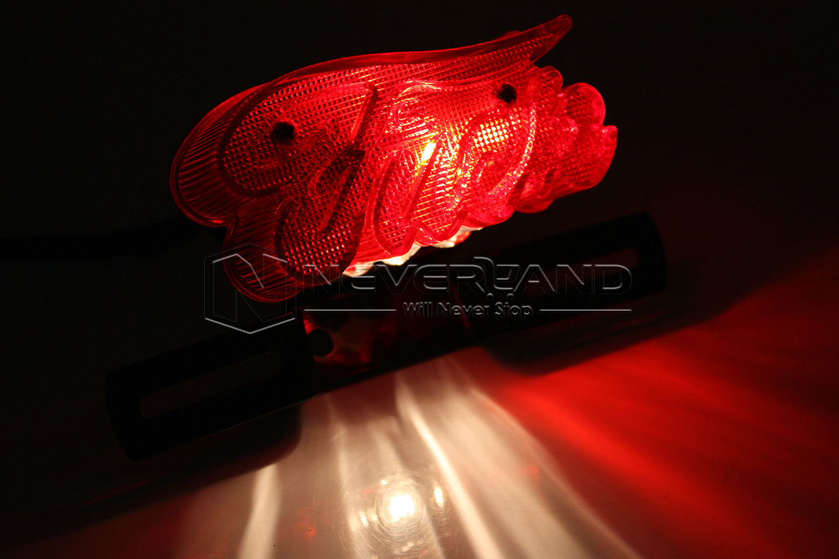 Universal Motorcycle License Plate Brake Moto Rear Light Tail Lights for Harley Chopper Red Free Shipping D10 6