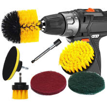 3pcs Power Scrubber Brush Set For Car Drill Cleaning Cordless Attachment Kit Electric