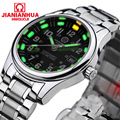 Luxury  green tritium Luminous watch men Waterproof  Sapphire glass Date Military men Quartz watches relogio masculine