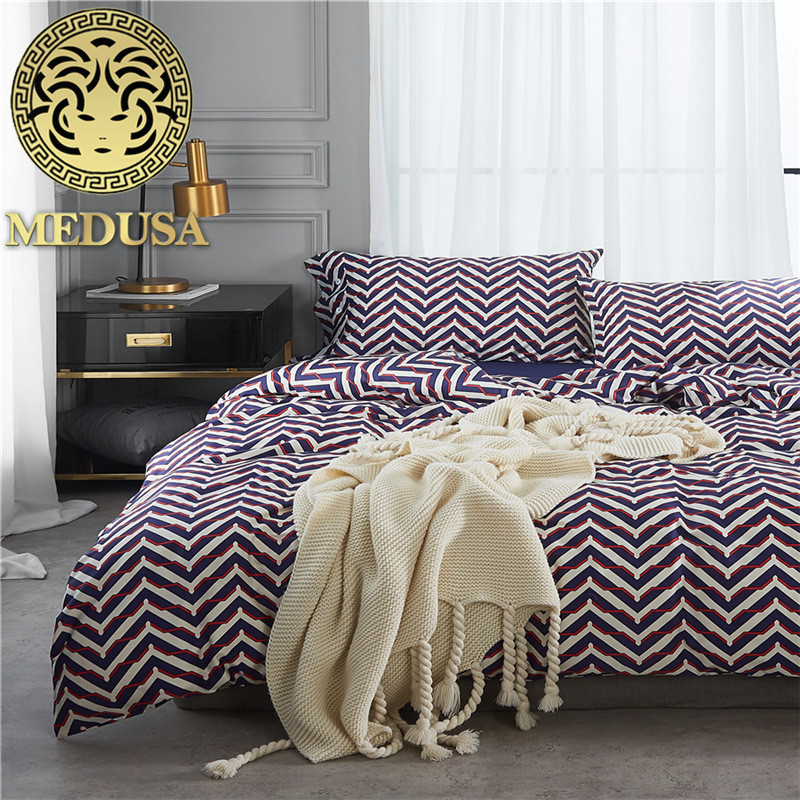 Medusa Egyptian cotton abstract bedding set king queen size duvet cover flat sheet pillow cases bed linen setMedusa Egyptian cotton abstract bedding set king queen size duvet cover flat sheet pillow cases bed linen set