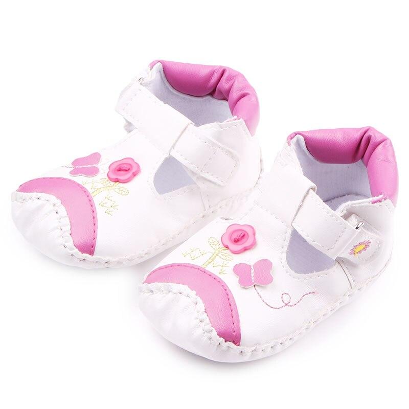 De alta Calidad de Cuero cosida A Mano Y TPR Suela Hook & Loop Zapatos de Bebé P