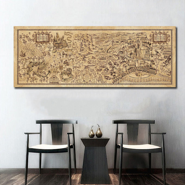 Map of The Wizarding World of Harry Potter Movie Wall Art Wall Decor ...