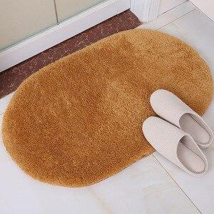 Image 5 - Alfombras de baño antideslizantes de 40x60cm, Alfombra de lana Coral, absorción de agua