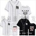 Bulletproof BTS segundo álbum ASAS em torno do que da juventude clube regular-camisa de manga curta uniforme de beisebol masculino e feminino estudante