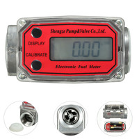 LCD Min Digital Flow Meter 15 120L Gear Flowmeter Kerosene Diesel Fuel Gasoline Liquid Water Flow Meter Measure Tools