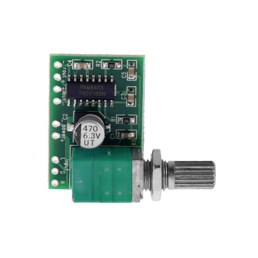 Mini Pam8403 5v 2 Channel Usb Power Audio Amplifier Board 3wx2w Volume Control Top Sale Free Shipping kopen