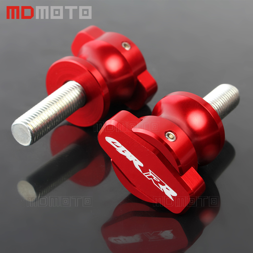 1 Pair Universal M8 Motorcycle Accessories Stand Screws Swingarm Spools Slider For Honda CBR 600RR 1000RR 929RR 900RR 954RR RR 2pcs universal motorcycle stand screws cnc swingarm swing sliders spools m6 m8 m10 for yamaha r3 honda crf 450 suzuki gn250