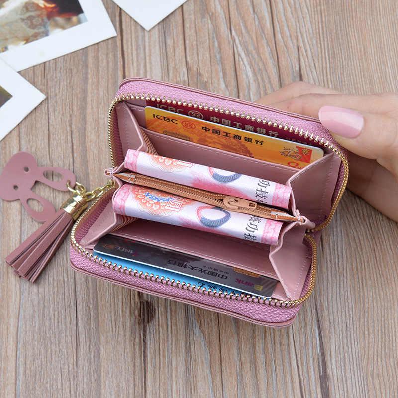 Novo 2019 da Senhora Bolsa da Senhora Curto Zip Bolsa Gato Bonito Dos Desenhos Animados Padrão Mini bolsa de Moedas Bonito Carteira Mulher carteira
