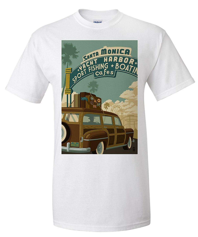 Возьмите Santa Monica, Калифорния-ROUTE 66-Pier сцены (Премиум футболка)