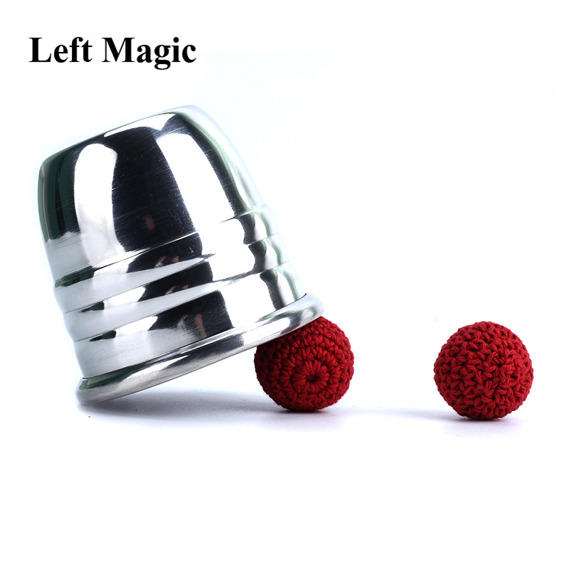 Aluminum Chop Cup - Silver,Classic Line Magnetic Cup Magic Tricks Magic Props Magic Toys Middle Size Close Up Magia Gimmick