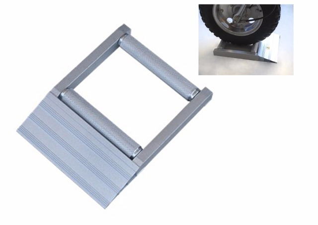 motorcycle wheel support stand car way auto wheel stopping frame ...