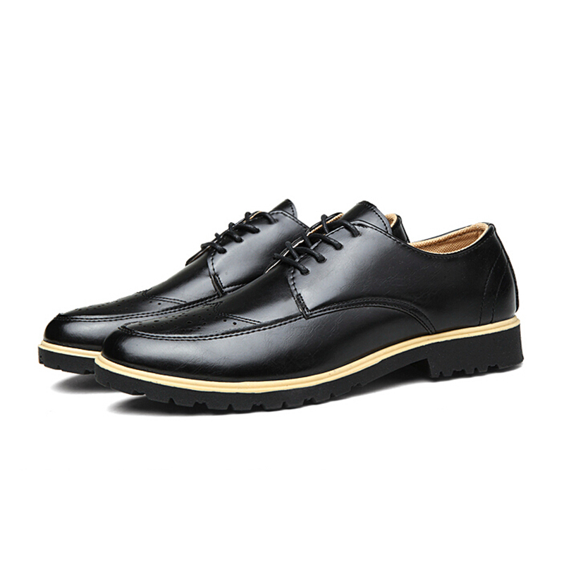 Masculino Britânico 62 Brockden 28 brown Black Pu Esculpida Tamanho Sapatos Couro Casuais Estilo Oxfords Apartamentos ZUa5xqq