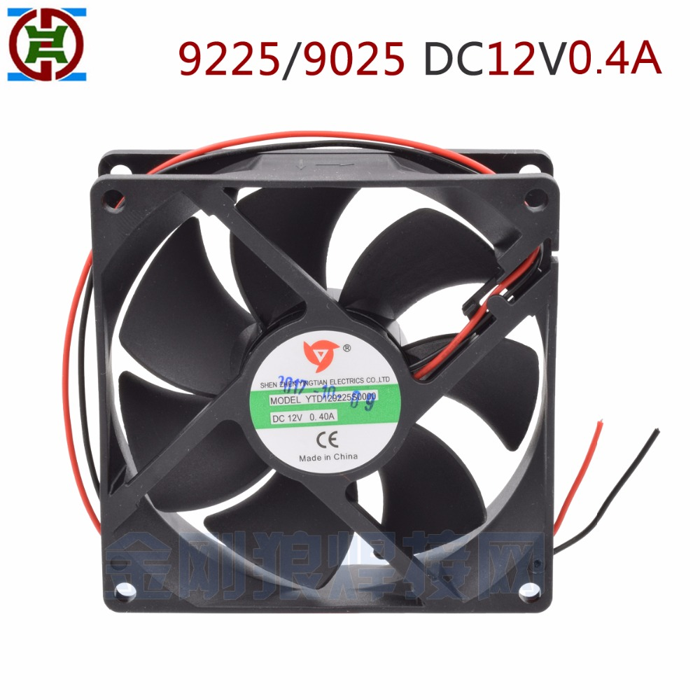 YDT 9225 9025  Air Cooling Fan DC12V 0.4A  , Axial Flow Fan 92*92*25MM For ZX7/TIG 200A Welding Machine