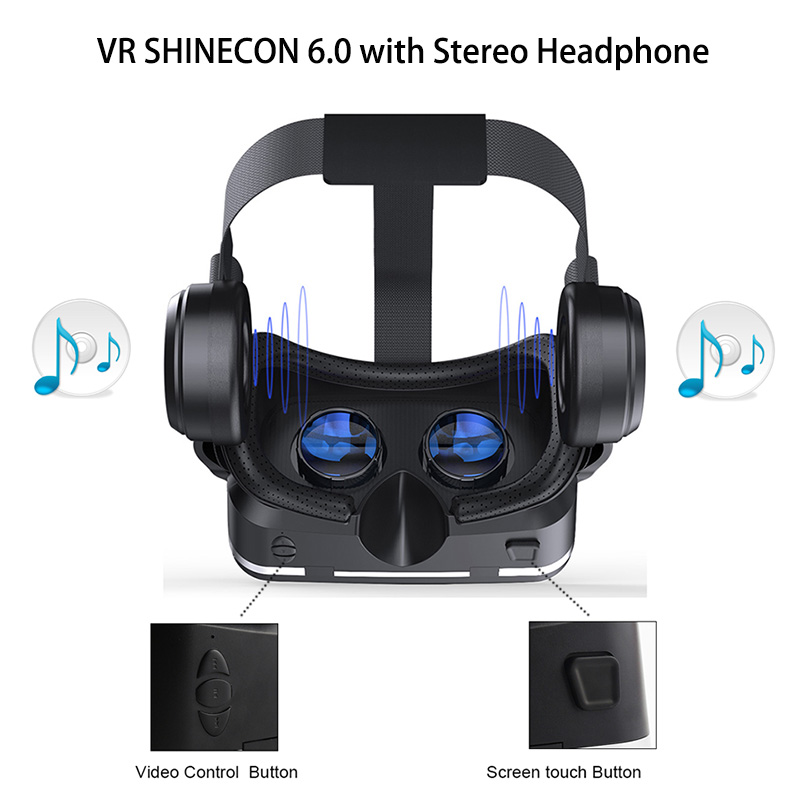 fec8eec1be13 The Related items you may like. VR Shinecon 6.0 3D Virtual Reality Glasses  Google Cardboard VR Box Headset Helmet ...