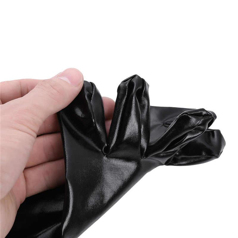 YiZYiF Unisex ถุงเท้าเซ็กซี่ Wetlook สิทธิบัตรหนังถุงเท้า Shiny Metallic Latex ยาง Club ข้อเท้าถุงเท้าผู้ชายผู้หญิงถุงเท้าตลก