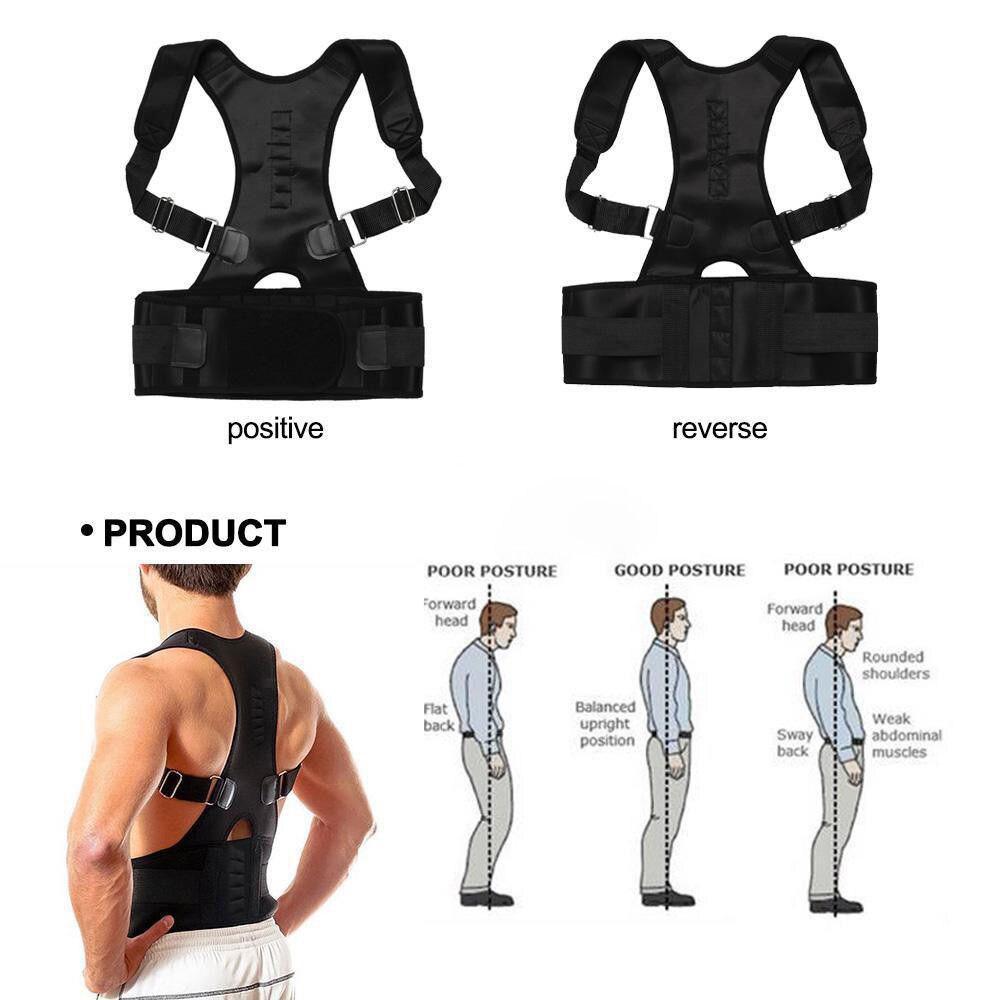NEW FASHION Adjustable 10 pcs Magnetic Orthopedic Posture Corrector Back & Shoulder Support Corset Rest Girdle B002-MNEW FASHION Adjustable 10 pcs Magnetic Orthopedic Posture Corrector Back & Shoulder Support Corset Rest Girdle B002-M