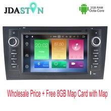 JDASTON Octa base Android 6.0 2 gb ram Lecteur DVD de Voiture Pour AUDI A6 S6 RS6 1997-2004 Multimédia GPS Navigation Radio Lecteur Vidéo