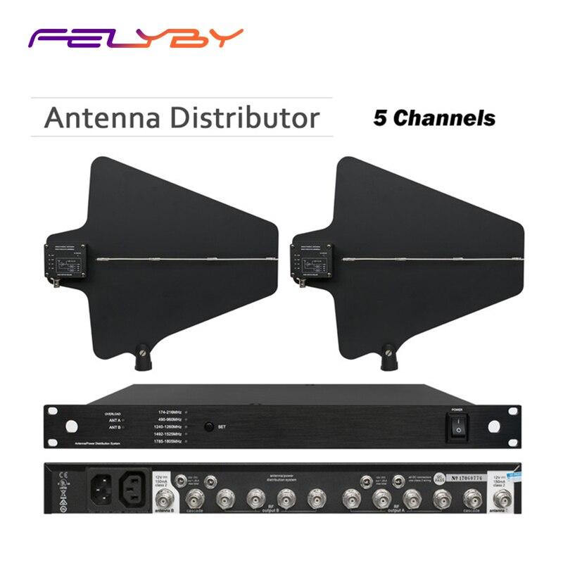 FELYBY Microphone sans fil amplificateur d'antenne directionnel actif 470-960MHz 400 mètres distributeur d'antenne amplificateur de Signal Mic