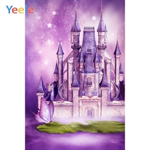 Yeele Fairytale Castle Fairytale Butterfly Photography Backgrounds Birthday Personalized Photographic Backdrops For Photo Studio forest fairytale knits