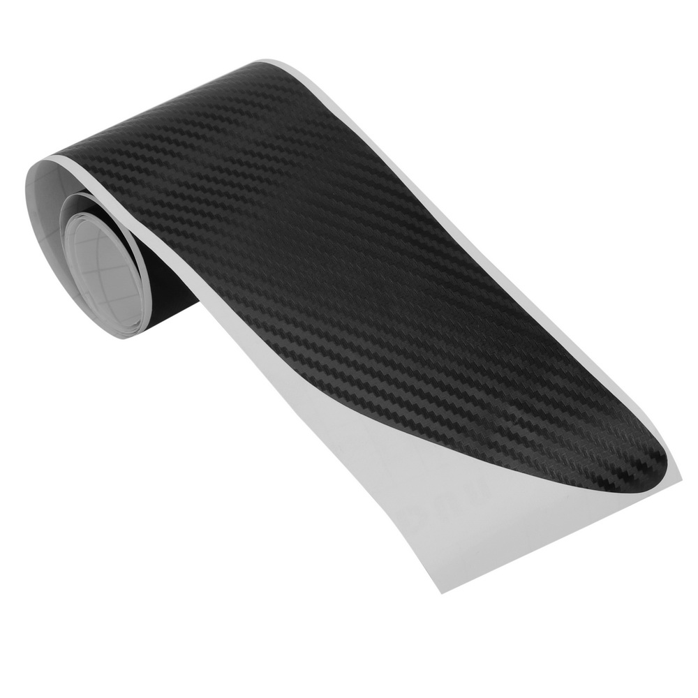 LEEPEE For VW <font><b>Golf</b></font> MK6 R20 Rear Bumper Sticker Trim Protector <font><b>Carbon</b></font> Fiber 1pc Sticker And Decals 108x7cm with Self Adhesive image