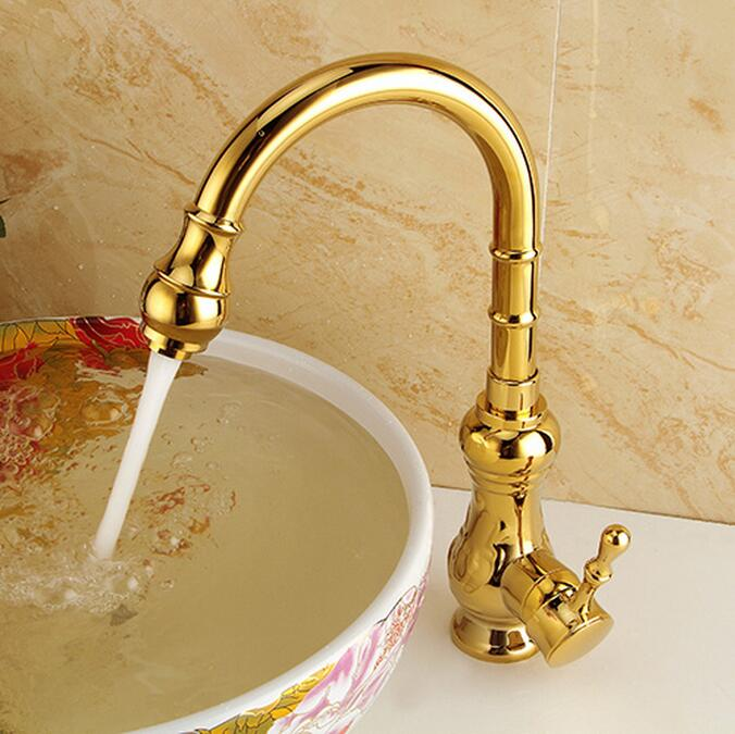 European High Quality Folding Kitchen Faucet Household: New Kitchen Faucet Golden Finish,water Tap Kitchen Swivel