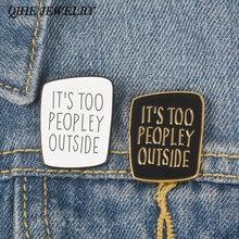 Женская Брошь интроверт забавные значки с надписью «anti social»