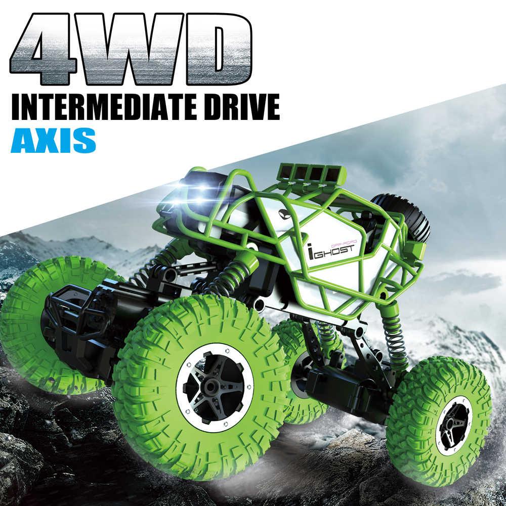 KEDIOR RC coche 4WD Control remoto coche escalada roca coche 4x4 Doble motores todoterreno vehículo Pie Grande juguetes para niños