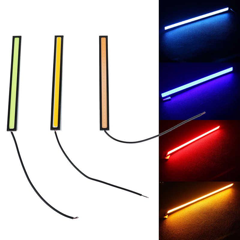 Araba Styling 1 adet Ultra parlak LED gündüz farları 17cm su geçirmez oto araba DRL COB sürüş sis lambası için bmw kia