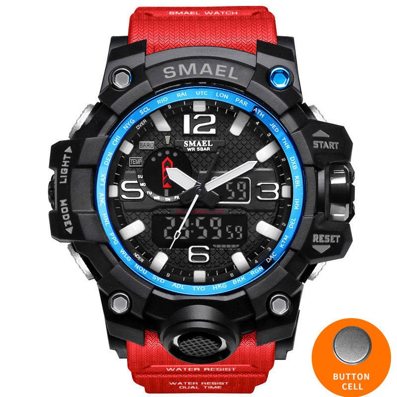 HTB1kgKBfwMPMeJjy1Xcq6xpppXan - SMAEL Sport Watches for Men Waterproof Digital Watch LED Men's Wristwatch Clock Man 1545 montre homme Big Men Watches Military