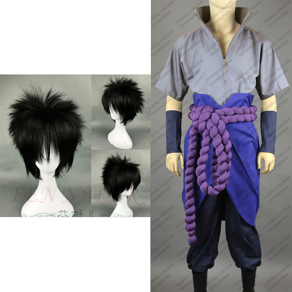 Naruto Shippuden Uchiha Sasuke Cosplay Costume Full Set In Anime