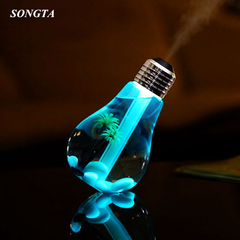 400ml LED Lamp Air Ultrasonic Humidifier for Home Essential Oil Diffuser Atomizer Air Freshener Mist Maker with LED Night Light