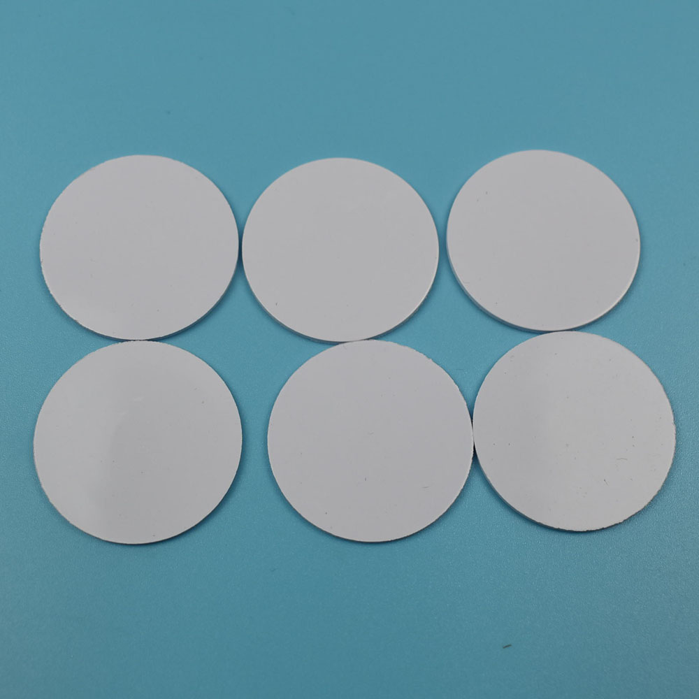 10pcs/lot 25mm 13.56MHZ NFC Tags Ntag213 Ntag215 ISO14443A NFC Coin Card Support Any NFC Function Smart Phone