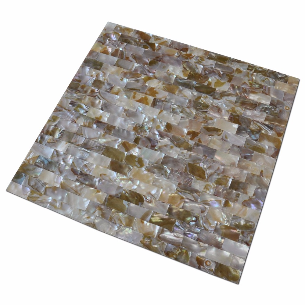 peel and stick mother of pearl shell mosaic tile for kitchen backsplashes 12 x 12 coloful taxtures with 6 tablets