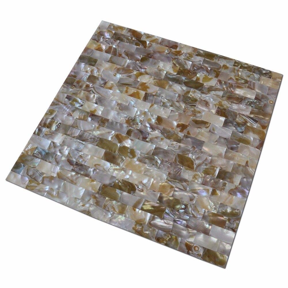 Schälen und Stick Perlmutt Muschel Mosaik Fliesen für Küche ...