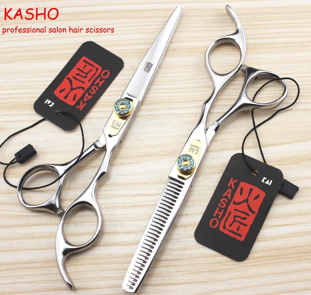 Kasho 9CR שיער מקצועי מספריים מספרה שיער - טיפוח השיער וסטיילינג