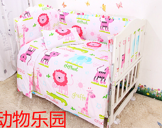 Promotion! 9pcs Baby bumpers for cot bed 100% Cotton Baby Bedding Set Good Quality Baby Bed Bumper ,4bumper/sheet/pillow/duvetPromotion! 9pcs Baby bumpers for cot bed 100% Cotton Baby Bedding Set Good Quality Baby Bed Bumper ,4bumper/sheet/pillow/duvet