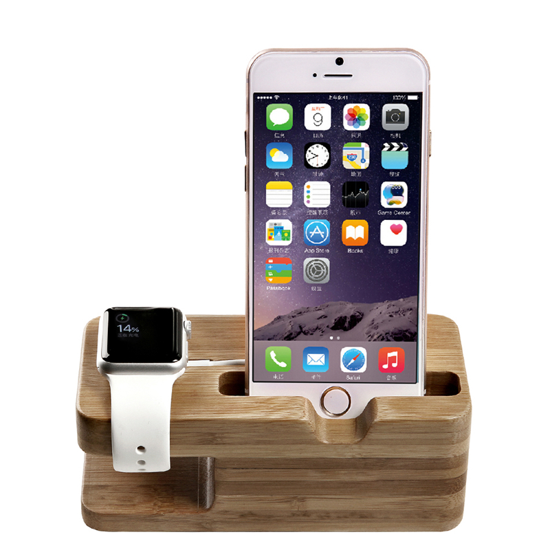 bamboo stand charging dock station bracket desktop stand accessories for iphone 6s 4 4s 5 5s 5c. Black Bedroom Furniture Sets. Home Design Ideas