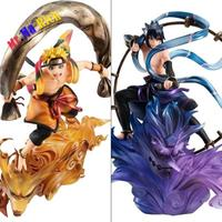New Arrival Japan Anime Action Figure NARUTO Uzumaki Naruto Uchiha Sasuke Wind Ver Model 18cm PVC Fighting Gift Doll Brand New