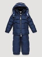 Twinset мальчик пуховик комплект со штанами Одежда для мальчиков зимняя одежда для детей пуховая куртка Детский пуховик детский комбинезон