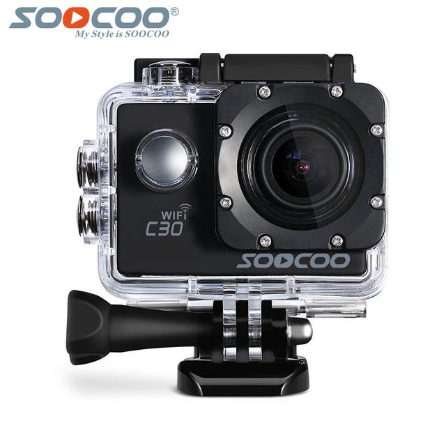 C30 soocoo ntk96660 wifi 4 k gyro ação esporte câmera à prova d' água 70-170 graus ajustável