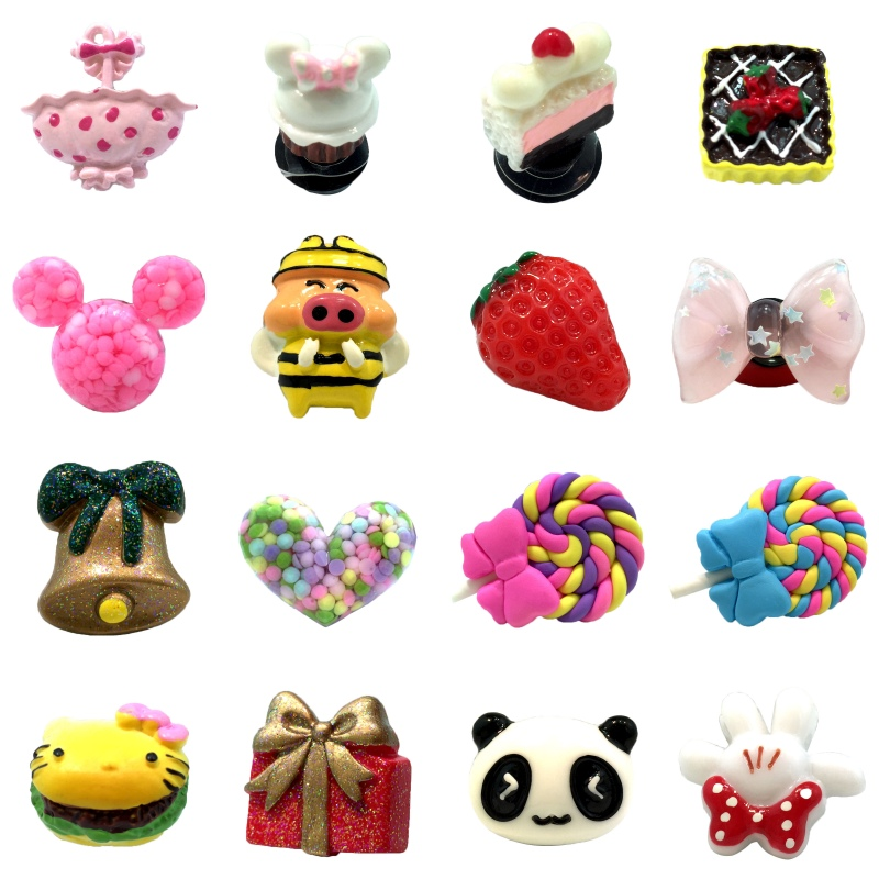 1Pcs Lovely Cake Resin Genuine Shoe Charms Shoe Accessories Decoration,Shoe Buckles Fit Bracelets With Holes Gifts
