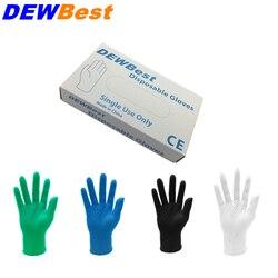 DEWBest livraison gratuite gants en Nitrile noir de haute qualité huile de Nitrile jetable et gant en Latex industriel en gros Acis