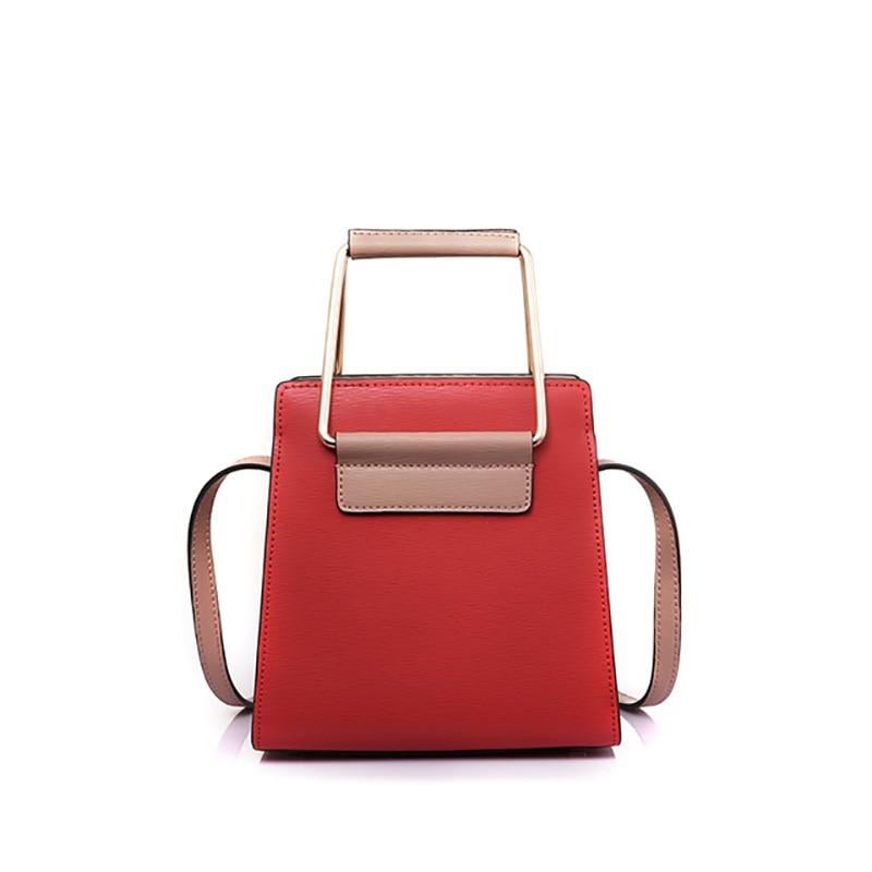 Sac carré femme Simple mode sac à bandoulière en cuir véritable de qualité sac à bandoulière femme sacs à bandoulière Hit couleur sac à main rouge