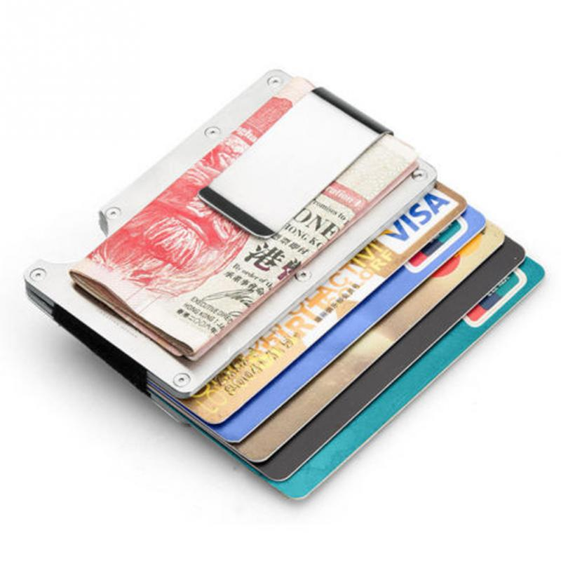 3c1f8c80d5a32e Men Stainless Steel Card Clipping Wallets Elastic Band Slim Money Clip  Credit Card Holder Wallet Purse-in Card & ID Holders from Luggage & Bags on  ...