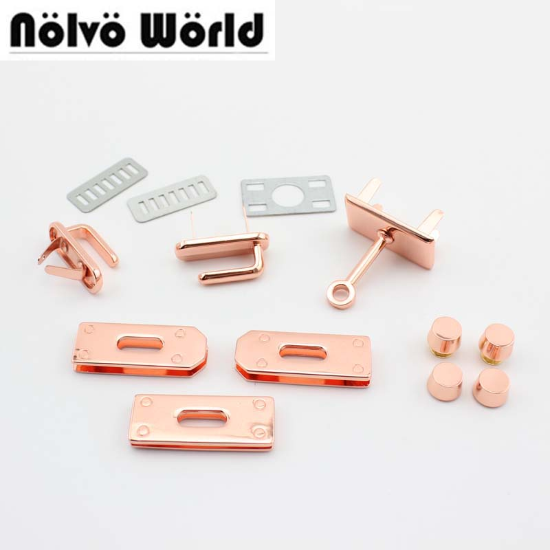 Luggage & Bags 1 Set,or 5 Sets Promotion Rose Gold Locks Rosegold Hook Clasp For Sewing Top Quality Women Completely Bags Handbags Purse Aromatic Character And Agreeable Taste