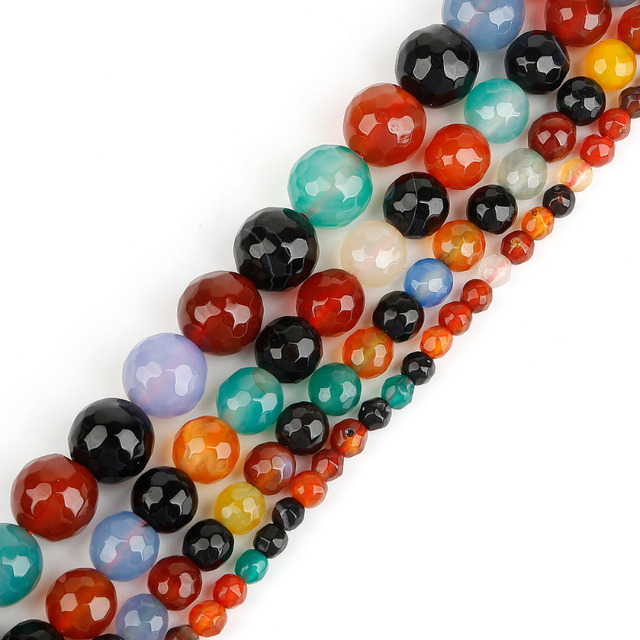 8589e435b2 2018 New arrival Synthetic Dyed Rainbow A gate Round Ball Beads for DY  Necklace Jewelry Making Pick Size 4 6 8 10mm Wholesale-in Beads from  Jewelry & ...