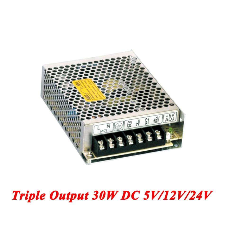 Electrical Equipments & Supplies T-30d Triple Output Dc Power Supply 30w 5v 12v 24v,smps Power Supply For Led Driver,ac110v/220v Transformer To Dc 5v 12v 24v