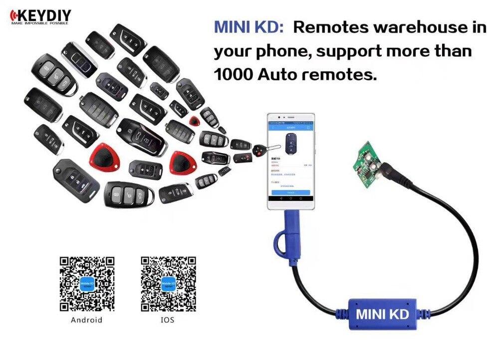 Moins cher Mini KD fabricant de clés à distance/générateur entrepôt dans votre téléphone Support appareil Android faire plus de 1000 télécommandes automatiques